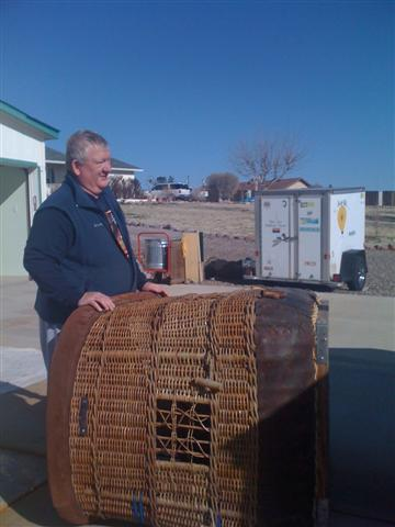 Larry of Balloon RX with Sonoran Star's basket